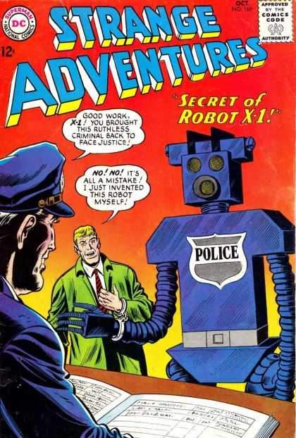 Strange Adventures 169 - Police - Approved By The Comics Code Authority - Dc - Superman - National Comics