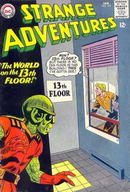 Strange Adventures 172 - Window - Man - Floor - Wall - Color - Sheldon Moldoff