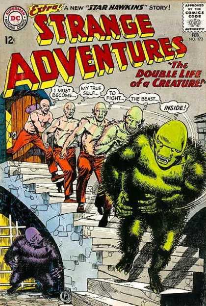 Strange Adventures 173 - Beast - Transformation - Double Life Of A Creature - Star Hawkins - Stairway