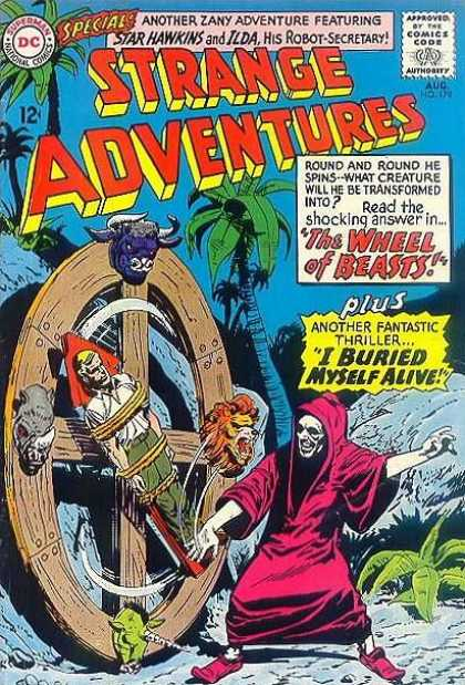 Strange Adventures 179 - Dc Comics - The Wheel Of Beasts - Buried Myselfd Alive - Palm Trees - Beach