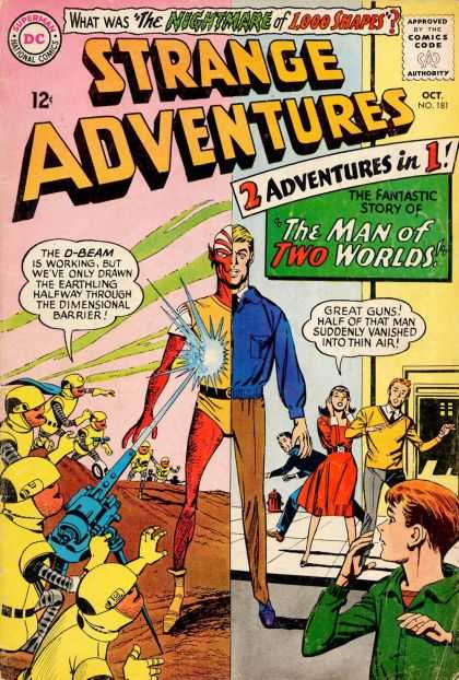 Strange Adventures 181 - The Man Of Two Worlds - D-beam - Dimensional Barrier - Vanished Into Thin Air - The Nightmare Of 1000 Shapes
