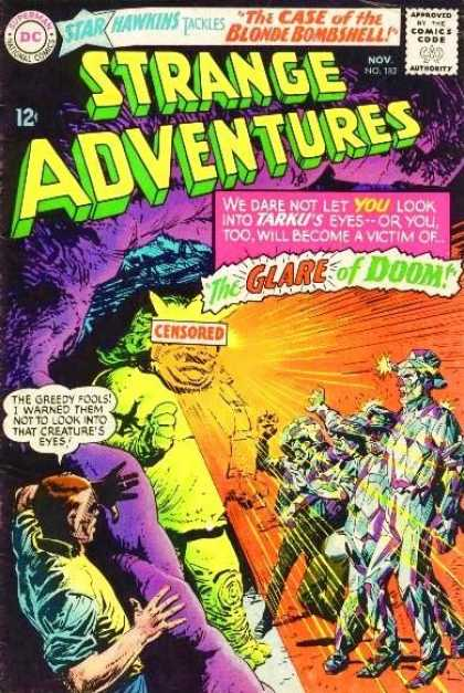 Strange Adventures 182 - Strange Adventures - The Case Of The Bloned Bombshell - Star Hawkins - The Clare Of Doom - Censored