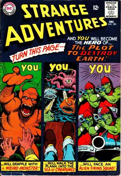 Strange Adventures 183 - Strange Adventures - Turn This Page - You Will Become The Hero Of - Weird Monster - Sea Of Creatures - Jim Mooney