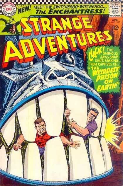 Strange Adventures 187 - Robot - Steel - Green - Gray - Blue