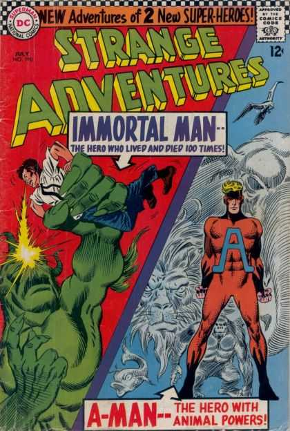 Strange Adventures 190 - Immortal Man - A-man - Green Monster - Lion - Elephant - Carmine Infantino