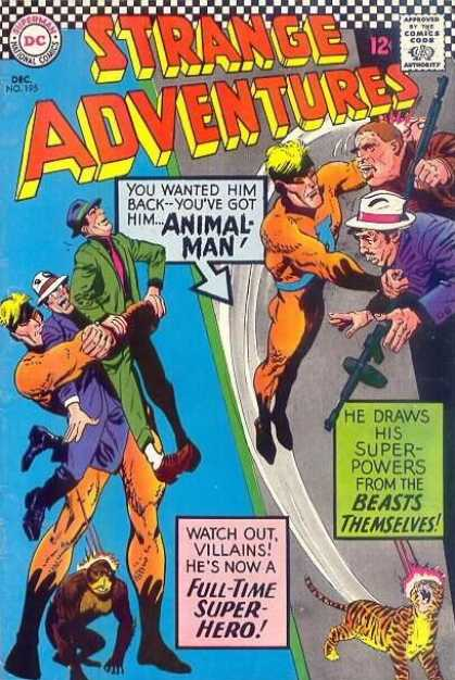 Strange Adventures 195 - Animal Man - Dc - Speech Bubble - 12 Cents - Gangsters