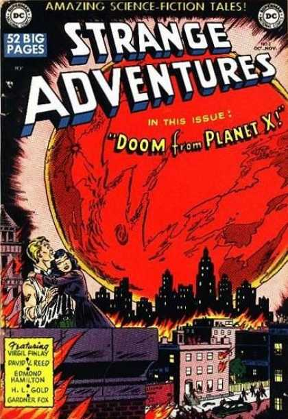Strange Adventures 2 - Doom From Planet X - 52 Big Pages - City - Fire - Couple Hugging - Rob Hunter, Sy Barry
