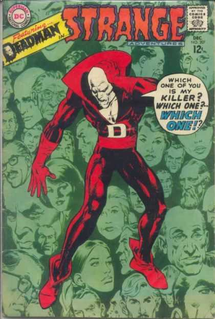 Strange Adventures 207 - Dead Man Thinking - Deadly Decisions - Murder Mystery - Death Demands Justice - Which One Did It - Neal Adams