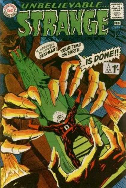 Strange Adventures 216 - Unbelievable - Is Done - Green Laser Eyes - 12 Cents - Long Finger Nails - Neal Adams