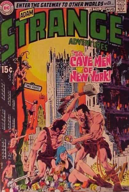 Strange Adventures 219 - Adam Strange Adventures - Gateway To Other Worlds - The Cave Men Of New York - Dc Comics - August - Joe Kubert