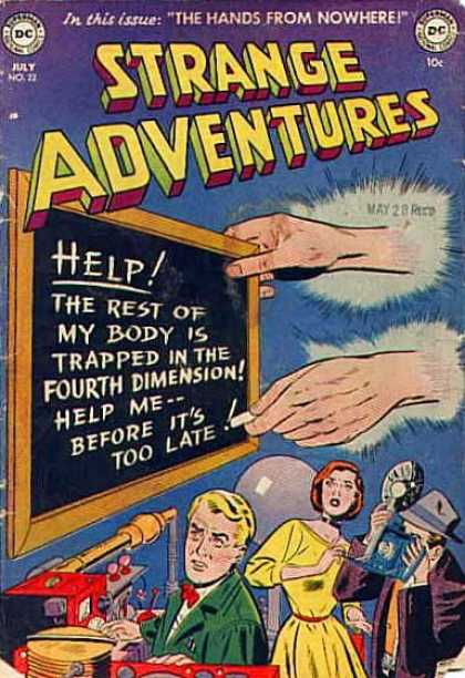 Strange Adventures 22 - The Hands From Nowhere - Chalk Board - Help - Chalk - Photographer