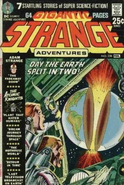 Strange Adventures 228 - Adam Strange - Earth Split - Super Science Fiction - Space Ship - Crew Members - Neal Adams
