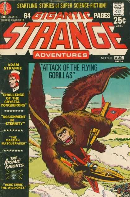 Strange Adventures 231 - Gigantic Strange - Adventures - Attack Of The Flying Gorillas - Adam Strange - Startling Stories Of Super Sci-fi - Murphy Anderson