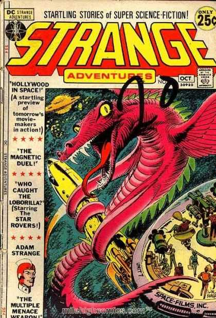 Strange Adventures 232 - Hollywood In Space - The Magnetic Duel - Who Caught The Loborilla - Star Rovers - Adam Strange - Joe Kubert