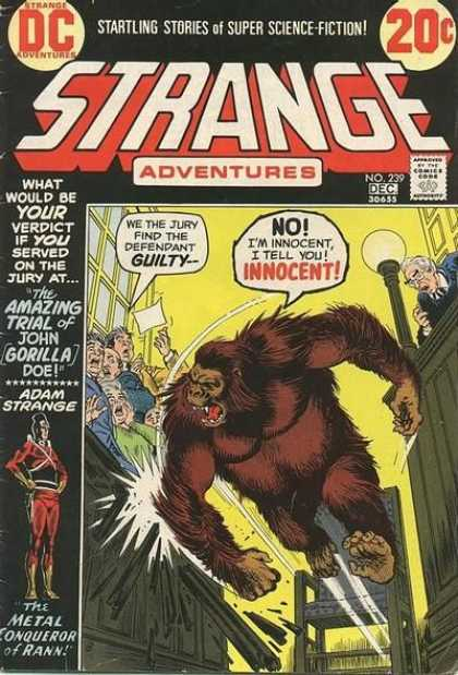 Strange Adventures 239 - Starling Stories - Super Science-fiction - Gorilla - Man - Innocent - Nick Cardy