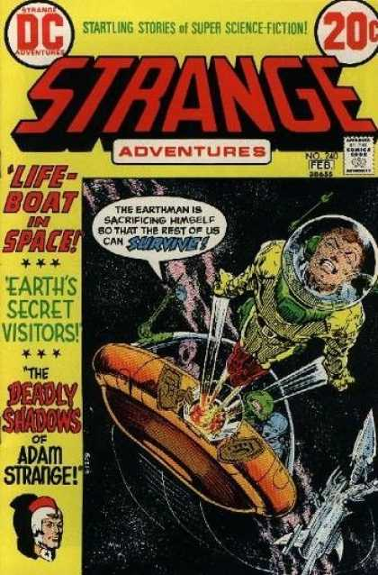 Strange Adventures 240 - Space Suit - Ufo - Earths Secret Visitors - The Deadly Shadows - Adam Strange - Michael Kaluta