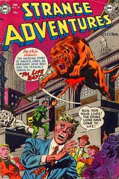 Strange Adventures 29 - Lion - The Life Ray - Life - Amazing Story - Terrible Power