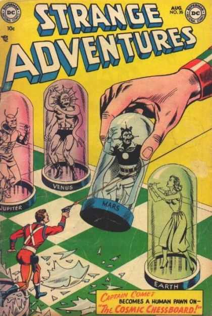 Strange Adventures 35 - Captain Comet - The Cosmic Chessboard - Jupiter - Venus - Earth