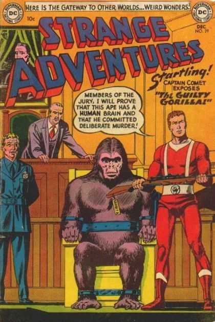 Strange Adventures 39 - Judge - Captain Comet - Guilty Gorilla - Weird Wonders - Bailiff