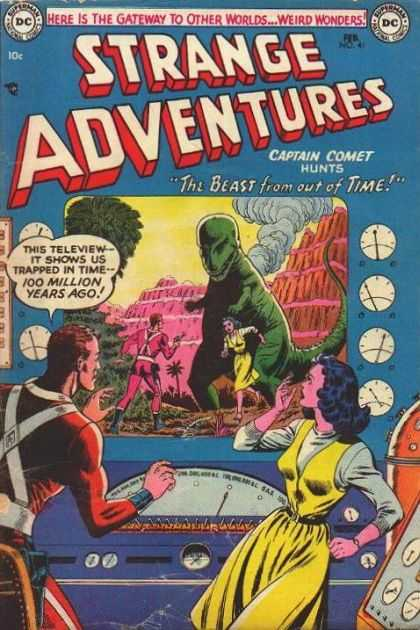 Strange Adventures 41 - The Beast From Out Of Time - Captain Comet - Dials - Dinosaur - Smoke