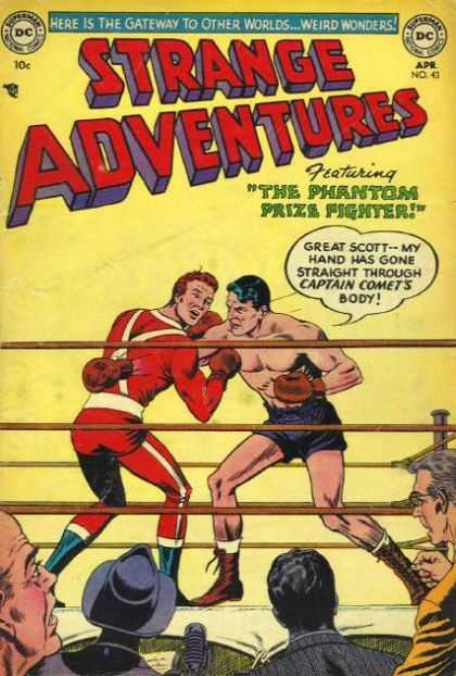 Strange Adventures 43 - Boxers - Ring - Great Scott - Captain Comet - Crowd