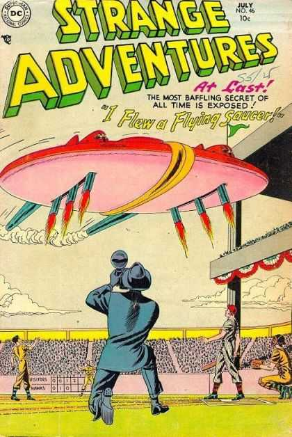 Strange Adventures 46 - I Flew A Flying Saucer - Stadium - At Last - Most Baffling Secret - Photographer