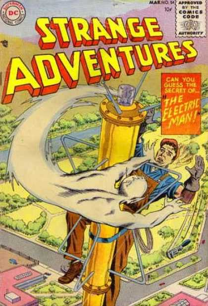 Strange Adventures 54 - The Secret Of - The Electric Man - The Electric Man Adventures - Strange Electric Man - Ghost Adventures - Murphy Anderson