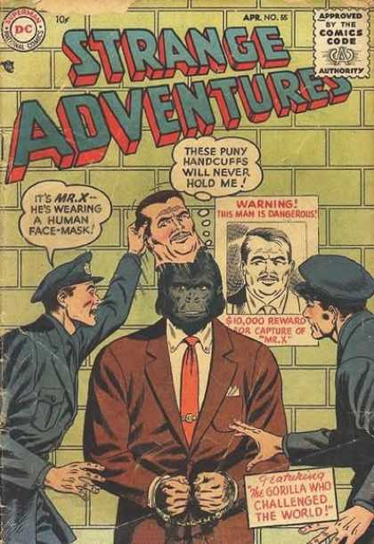 Strange Adventures 55 - Mask - Strange - Cops - Moneky - Wanted
