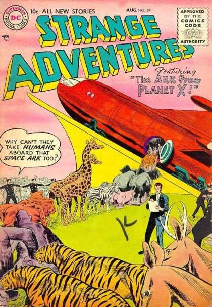 Strange Adventures 59 - The Ark From Planet X - Animlals - Ship - Space Ark - Shuttle