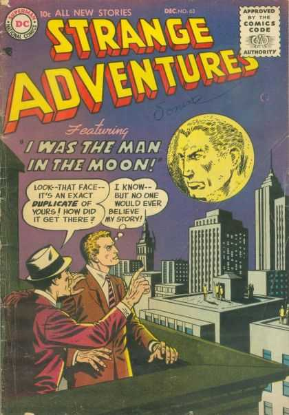 Strange Adventures 63 - All The Stories - Approved By The Comics Code - I Was The Man In The Moon - Superman - City