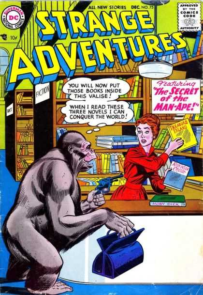 Strange Adventures 75 - The Secret Of The Man-ape - Treasure Island - Fiction - All New Stories - Dec No75