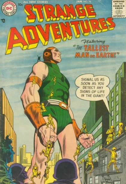 Strange Adventures 76 - Tallest Man On Earth - Girant - City - Army - Soldiers