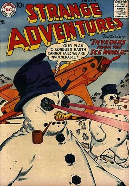 Strange Adventures 79 - Snowmen - Laser Eyes - Invaders From The Ice World - Plan To Conquer Earth - Invulnerable