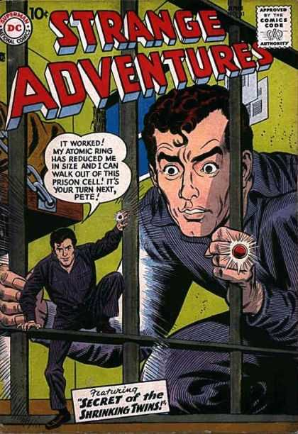 Strange Adventures 81 - Twins - Ring - Superman - Approved By The Comics Code - Man
