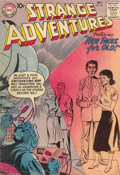 Strange Adventures 87 - New Faces For Old - Enchanting Ray - Couple - Scientist - No 87