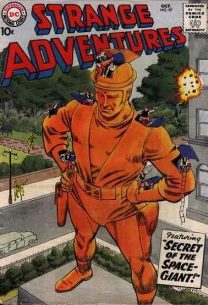 Strange Adventures 97 - Dc - Secret - Space-giant - Guns - Fire