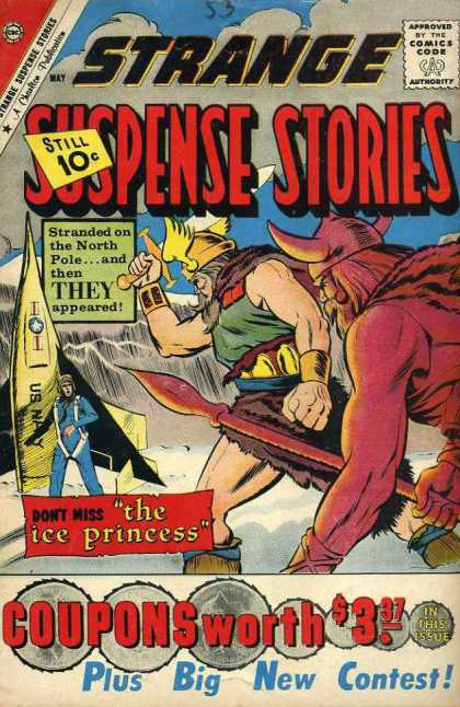 Strange Suspense Stories 53 - North Pole - Vikings - Comics Code Authority - Ice Princess - Coupons