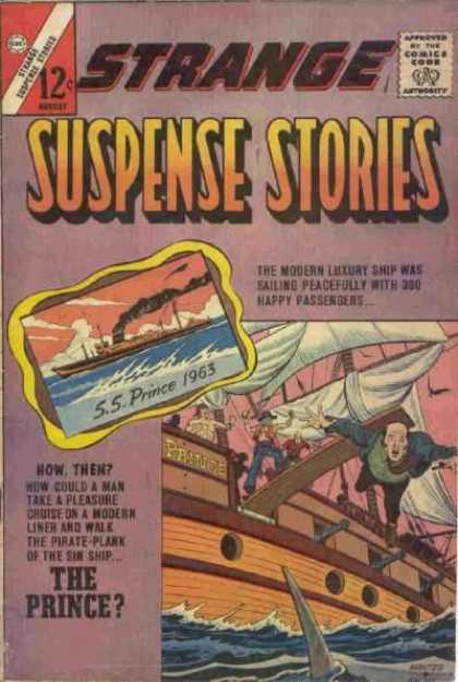 Strange Suspense Stories 66 - Issue 12 - The Modern Luxury Ship - Ss Prince 1963 - Plank - Cruise