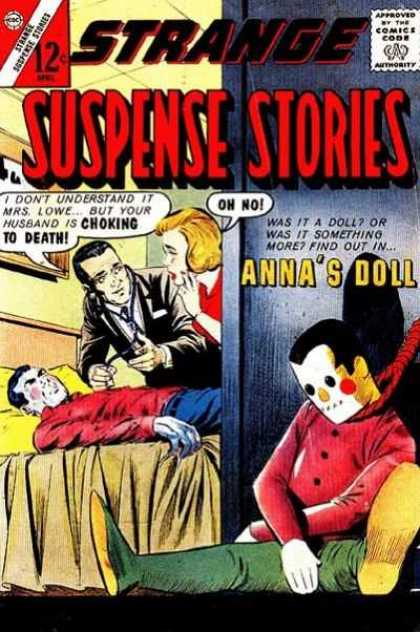 Strange Suspense Stories 69 - Doll With Pain - Doctor Half - Choking To Death - Comeback Doll - Lady Surprise