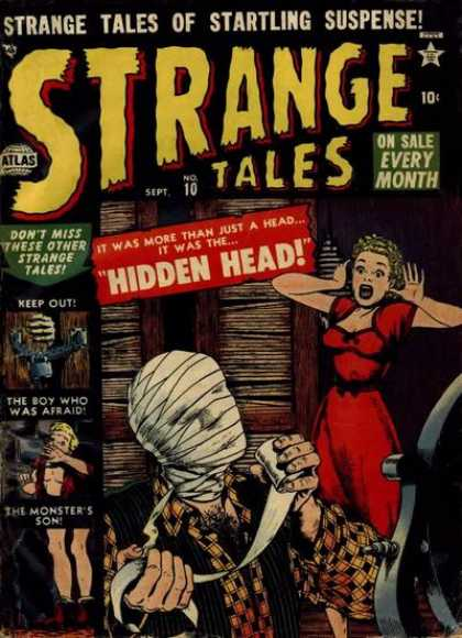 Strange Tales 10 - Hidden Head - Mummy - Startling Suspense - The Boy Who Was Afraid - The Monsters Son - Bill Everett, Terry Austin
