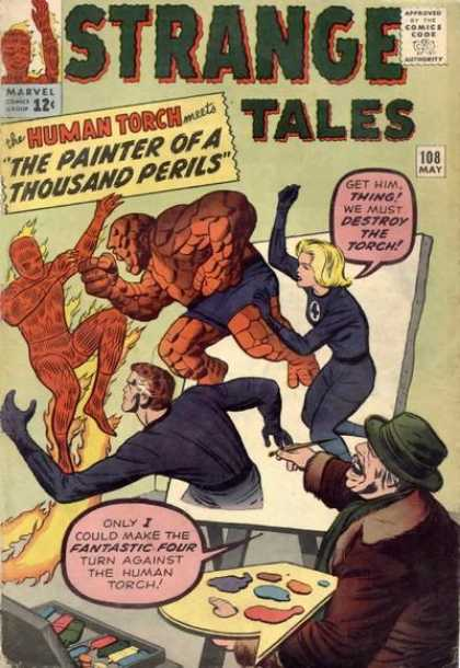 Strange Tales 108 - Human Torch - Thing - Jack Kirby