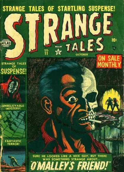 Strange Tales 11 - Cave - Web - Skull - Cigarette - Omalleys Friend - Carl Potts, Kevin Nowlan
