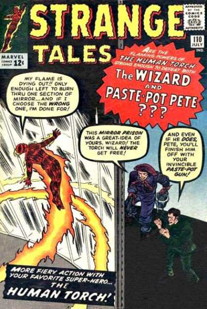 Strange Tales 110 - The Wizard - The Human Torch - Paste Pot Pere - Mirror Prison - Firey Action - Dick Ayers, Jack Kirby
