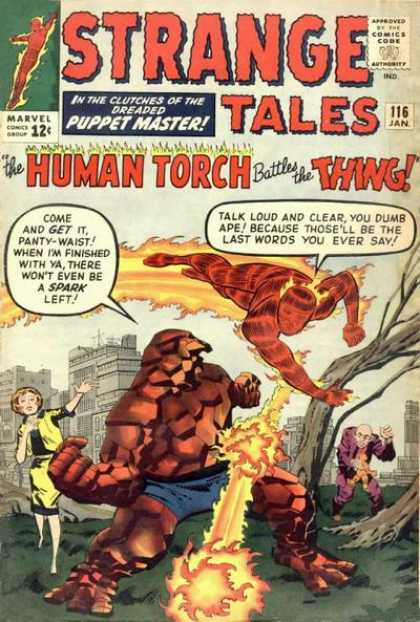 Strange Tales 116 - Human Torch - Thing - Fantastic Four - Puppet Master - Park - George Roussos, Jack Kirby