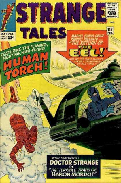 Strange Tales 117 - Human Torch - Comics Code Authority - 12 Cents - Marvel - The Eel - George Roussos, Jack Kirby