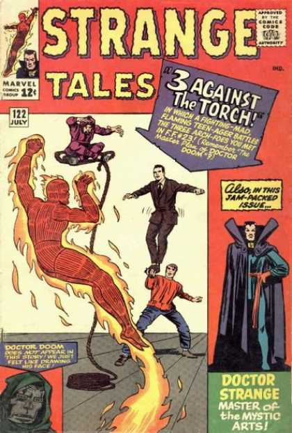 Strange Tales 122 - Doctor Strange - Doctor Doom - 3 Against The Torch - 122 July - Super Hero - George Roussos, Jack Kirby
