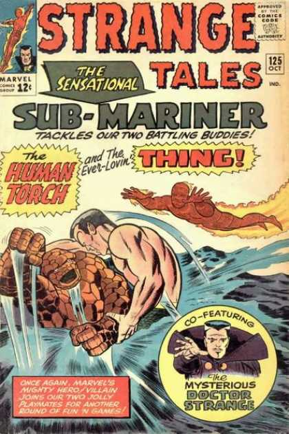 Strange Tales 125 - The Sensational Sub-mariner - The Human Torch - The Thing - Battling Buddies - Doctor Strange - George Roussos, Jack Kirby