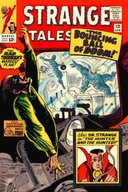 Strange Tales 131 - Marvel - The Bouncing Ball Of Doom - The Mad Thinkers Maddest Plan - Dr Strange - The Hunter And The Hunted - Dick Ayers