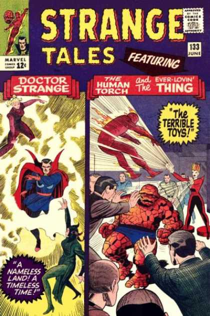 Strange Tales 133 - Doctor Strange - The Human Torch - Ever-lovin Thing - The Terrible Boys - A Nameless Land A Nameless Time - Jack Kirby