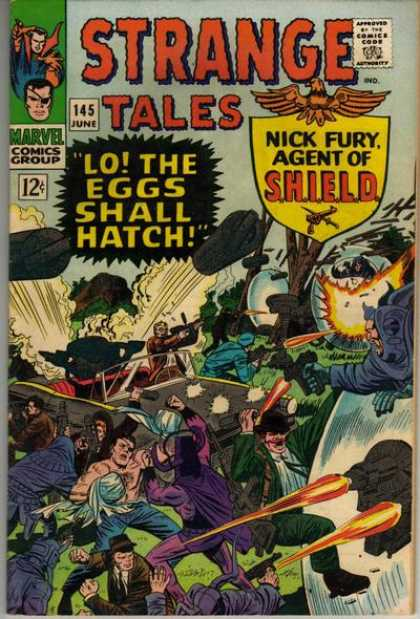 Strange Tales 145 - Approved By The Comics Code Authority - Marvel Comics Group - 145 June - Lothe Eggs Shall Hatch1 - Nick Furyagent Of Shield